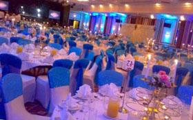 Синий стиль на свадьбе
